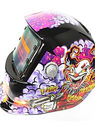 Недорогие -солнечная автоматическая фотоэлектрическая сварочная маска с рисунком клоуна