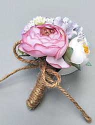 abordables -Fleurs de mariage Boutonnières / Petit bouquet de fleurs au poignet Mariage / Soirée Polyester 5cm
