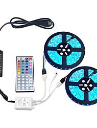 Недорогие -ZDM® 2x5M Наборы ламп 2*150 светодиоды 5050 SMD 1 адаптер 12V 6A / 1 пульт дистанционного управления 44Keys / 1 кабель переменного тока RGB Водонепроницаемый / Можно резать / Декоративная 12 V 1