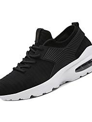 hesapli -Erkek Ayakkabı PU / Tissage Volant Kış Sportif Atletik Ayakkabılar Koşu Atletik için Beyaz / Siyah / Kırmzı