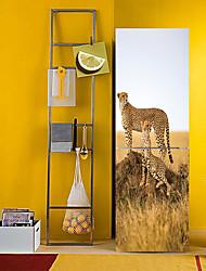 Недорогие -Наклейки на холодильник - 3D наклейки Пейзаж / Животные Кухня / Столовая