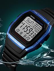 Недорогие -SKMEI Муж. Нарядные часы Наручные часы электронные часы Японский Цифровой силиконовый Черный 30 m Защита от влаги Календарь Хронометр Цифровой Классика На каждый день Мода -  / Фосфоресцирующий