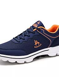 hesapli -Erkek Ayakkabı PU Bahar Günlük Atletik Ayakkabılar Yürüyüş Günlük için Siyah / Koyu Mavi / Açık Gri