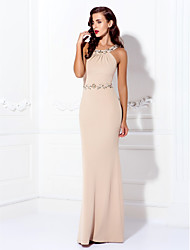 34869c576d1 Marchesa Style Sheath   Column Halter Neck Floor Length Spandex Beautiful Back  Prom   Formal Evening Dress with Beading by TS Couture®