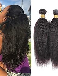 Недорогие -3 Связки Бразильские волосы Естественные прямые 8A Натуральные волосы Необработанные натуральные волосы Головные уборы Человека ткет Волосы Сувениры для чаепития 8-28 дюймовый Естественный цвет