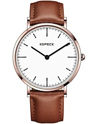 Недорогие -Kopeck Муж. Нарядные часы Наручные часы Японский Японский кварц Натуральная кожа Черный / Коричневый / Шоколадный 30 m Защита от влаги Повседневные часы Аналоговый Классика На каждый день Мода -