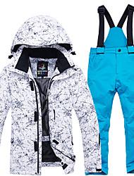 Недорогие -ARCTIC QUEEN Мальчики Девочки Лыжная куртка и брюки С защитой от ветра Теплый Воздухопроницаемость Катание на лыжах Отдых и Туризм Сноубординг Полиэфир Экологичность Полиэстер / Зима