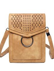 Недорогие -Жен. Мешки PU Мобильный телефон сумка Молнии Миндальный / Пурпурный / Коричневый