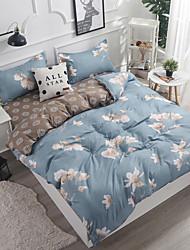 ราคาถูก -ชุดผ้านวมคลุม ลายดอกไม้ Polyster Printed 4 ชิ้นBedding Sets