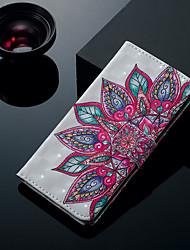 levne -Carcasă Pro Apple iPhone XS / iPhone XS Max Pouzdro na karty / se stojánkem / Flip Celý kryt Květiny Pevné PU kůže pro iPhone XS / iPhone XR / iPhone XS Max