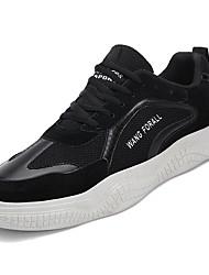 hesapli -Erkek Ayakkabı PU Bahar Spor Ayakkabısı Dış mekan için Siyah / Bej