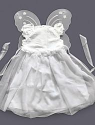 abordables -Conte de Fée Costume de Cosplay Enfant Noël Halloween Fête / Célébration Polyester Tenue Blanc Couleur Pleine