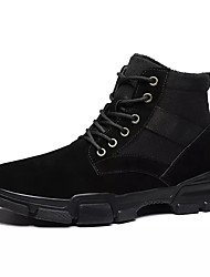 cheap -Men's Combat Boots PU(Polyurethane) Spring Casual Boots Breathable Mid-Calf Boots Black / Beige