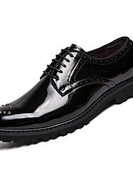 Недорогие -Муж. Комфортная обувь Полиуретан Наступила зима На каждый день Туфли на шнуровке Доказательство износа Черный