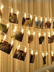abordables -brelong led photo clip lumière 1.5m 10led lumière blanche chaude toujours brillante avec flash