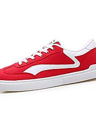 hesapli -Erkek Ayakkabı Kanvas Bahar Günlük Spor Ayakkabısı Günlük için Siyah / Gri / Kırmzı