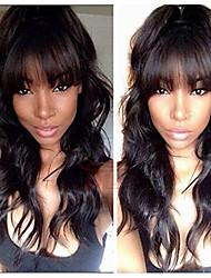 Недорогие -человеческие волосы Remy 6x13 Тип замка Парик Бразильские волосы Естественные кудри Парик Стрижка боб 130% Плотность волос Женский Натуральный Удобный 100% девственница вьющийся Нейтральный Жен.