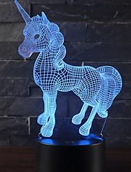 Недорогие -Красивый единорог романтический подарок 3d светодиодная настольная лампа 7 изменение цвета ночной свет декор комнаты блеск праздник подруга детские игрушки