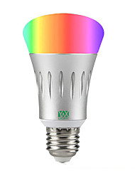 abordables -YWXLIGHT® 1pc 7 W 600 lm Ampoules LED Intelligentes A60(A19) 22 Perles LED SMD 2835 RVB / Blanc 85-265 V / 1 pièce