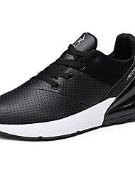 hesapli -Erkek Ayakkabı Sentetikler İlkbahar & Kış Sportif / Günlük Atletik Ayakkabılar Koşu Atletik / Günlük için Siyah / Siyah ve Beyaz