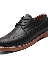 hesapli -Erkek Ayakkabı PU Bahar İngiliz Oxford Modeli Günlük için Siyah / Gri / Kahverengi
