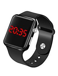 Недорогие -Муж. Наручные часы электронные часы Цифровой силиконовый Черный 30 m Защита от влаги ЖК экран Цифровой Мода минималист - Пурпурный Синий Розовое золото