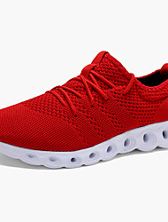 cheap -Men's Comfort Shoes Mesh / Tissage Volant Spring &  Fall Sporty / Casual Athletic Shoes Running Shoes Non-slipping Black / Black and White / Red