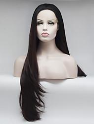 Недорогие -Синтетические кружевные передние парики Жен. Кудрявый / Волнистый Омбре Свободная часть 180% Человека Плотность волос Искусственные волосы 18-26 дюймовый Регулируется / Жаропрочная / Эластичный Омбре