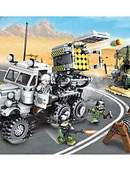 Недорогие -Конструкторы Конструкторы Игрушки Обучающая игрушка 400-800 pcs Армия Грузовик совместимый Legoing моделирование Грузовик Военная техника Все Мальчики Девочки Игрушки Подарок