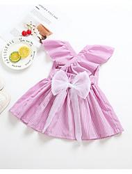 お買い得  -赤ちゃん 女の子 活発的 ストライプ ノースリーブ ポリエステル ドレス ブルー
