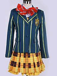 Недорогие -Вдохновлен Косплей Косплей Аниме Косплэй костюмы Японский Школьная форма Английский / Современный стиль Косыночная повязка / Кофты / Платье Назначение Муж. / Жен.