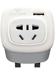 abordables -BULL 1pc Protection de l'enfance / UK ABS + PC Adaptateur d'alimentation 2500 W