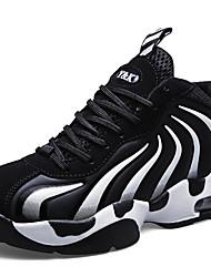 hesapli -Erkek Ayakkabı Sentetikler İlkbahar & Kış Sportif / Günlük Atletik Ayakkabılar Basketbol Atletik / Günlük için Siyah ve Beyaz / Mavi / Siyah / Kırmızı