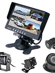 Недорогие -renepai® 7-дюймовый 4 in1 HD монитор + автобус 170 ° HD автомобильная камера заднего вида Водонепроницаемая камера длина кабеля 6 м, 10 м,