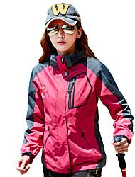 Недорогие -Жен. Куртка для туризма и прогулок на открытом воздухе Осень Зима С защитой от ветра Дожденепроницаемый Воздухопроницаемость Спортивная одежда Одежда Полиэстер Верхняя часть