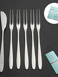 Недорогие -Фрукты вилка торт нож из нержавеющей стали закуска десерт набор столовых приборов свадебный подарок
