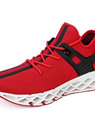 Недорогие -Муж. Комфортная обувь Сетка / Tissage Volant Весна & осень Спортивные / На каждый день Спортивная обувь Беговая обувь Нескользкий Черный / Серый / Красный
