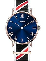 Недорогие -Kopeck Муж. Наручные часы электронные часы Японский Японский кварц Нейлон Черный / Серый / Небесно-голубой 30 m Защита от влаги Cool Аналоговый Мода Цветной - Черный Серый Синий