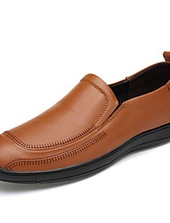 baratos -Homens Sapatos Confortáveis Pele Napa Inverno Vintage / Casual Tênis Absorção de choque Preto / Castanho Claro / Castanho Escuro