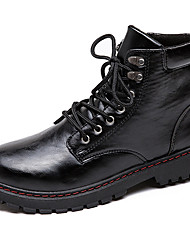 cheap -Men's Combat Boots PU(Polyurethane) Winter Casual Boots Keep Warm Mid-Calf Boots Black