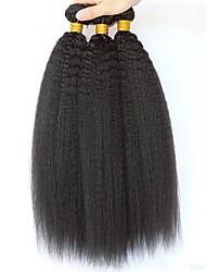 Недорогие -3 Связки Перуанские волосы Вытянутые 8A Натуральные волосы Необработанные натуральные волосы Головные уборы Человека ткет Волосы Сувениры для чаепития 8-28 дюймовый Естественный цвет
