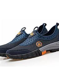 hesapli -Erkek Ayakkabı PU Bahar Günlük Atletik Ayakkabılar Dağ Yürüyüşü Günlük için Kahverengi / Ordu Yeşili / Mavi