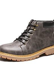 hesapli -Erkek Ayakkabı PU Sonbahar Çizmeler Günlük / Ofis ve Kariyer için Gri / Sarı / Kahverengi