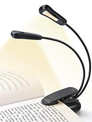 Недорогие -Аккумуляторная 5500-6000k 5 светодиодный книжный свет легко клип на лампы для чтения для чтения в постели 9 яркость легкий вес 4-6 часов чтения