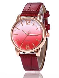 Недорогие -Жен. Наручные часы электронные часы Кварцевый Кожа Черный / Белый / Синий Повседневные часы Милый Аналоговый На каждый день Мода - Красный Синий Розовый
