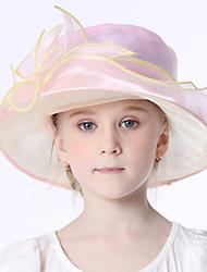 Недорогие -Elizabeth Чудесная миссис Мейзел Фетровые шляпы Кентукки шляпа дерби шляпа Ретро Девочки Розовый Цветы Конструкция САР органза костюмы / Детские