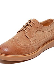 cheap -Men's Bullock Shoes Leather Fall & Winter Oxfords Black / Yellow / Coffee