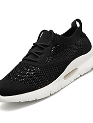 cheap -Men's Comfort Shoes Mesh / Tissage Volant Winter Sporty Athletic Shoes Running Shoes Non-slipping White / Black / Red