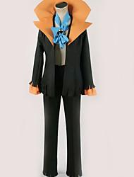 Недорогие -Вдохновлен One Piece Brook Аниме Косплэй костюмы Японский Косплей Костюмы Однотонный Кофты / Брюки / Больше аксессуаров Назначение Муж. / Жен.