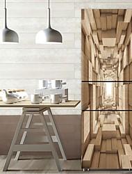 Недорогие -Наклейки на холодильник - 3D наклейки Абстракция / Геометрия Кухня / Столовая